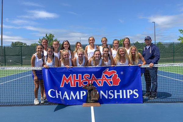 2018 MHSAA GIRLS DIVISION IV TENNIS CHAMPIONS